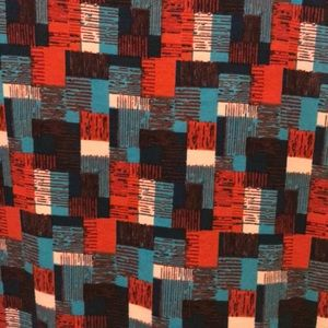 LuLaRoe Dresses - 💗 LuLaroe Julia Patchwork Print dress Plus Size